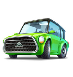green ecocar vector image