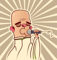 Guy with the microphone vector