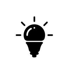 idea bulb light icon led diode lamp lightbulb vector image