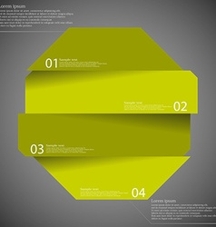 Infographic template with octagon divided to four vector