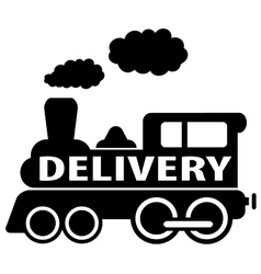 isolated delivery train icon vector image