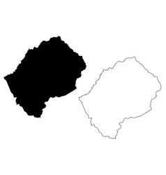 lesotho map vector image