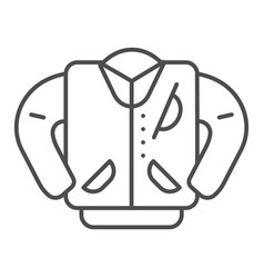 Letterman jacket thin line icon high school vector