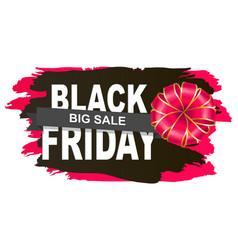 limited promotion black friday postcard vector image