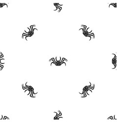 live crab pattern seamless black vector image