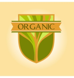 Logo for environmental goods wood products organic vector