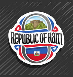 logo for republic of haiti vector image