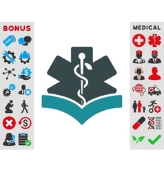 Medical Knowledge Icon vector image