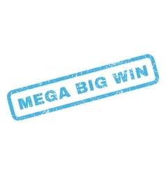 Mega Big Win Rubber Stamp vector image
