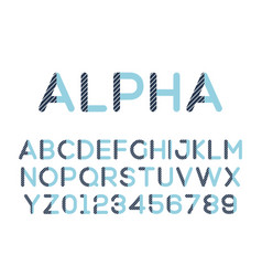 modern stylized font alphebet vector image