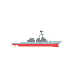 Navy battleship icon military ship with large vector