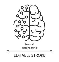 neural engineering linear icon neuroengineering vector image