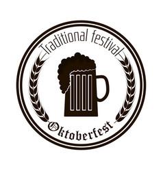 oktoberfest beer festival isolated vector image