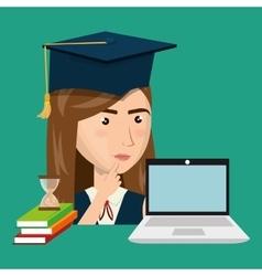 Online education design vector