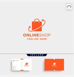 Online shop logo design sale market symbol icon vector