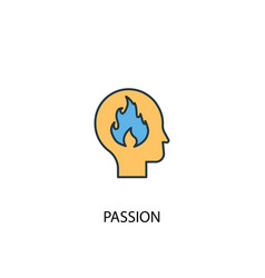 passion concept 2 colored icon simple blue vector image