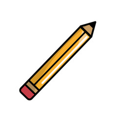 pencil tool to study in the school icon vector image