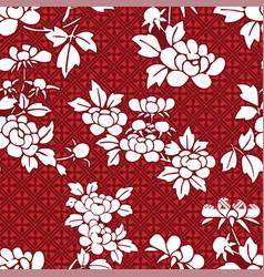peony japanese chinese design seamless pattern vector image