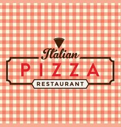 Pizza light brown ribbon logo vector