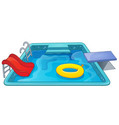 Pool theme image 1 vector