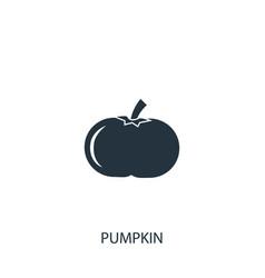 Pumpkin icon simple gardening element symbol vector