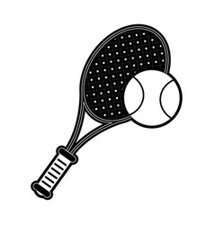 Racquet and ball tennis related icon image vector