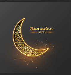 Ramadan kareem glitter design vector