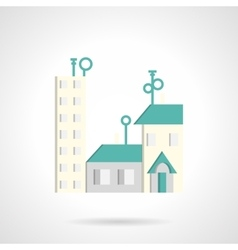 Residential district abstract flat icon vector
