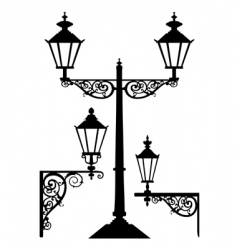 Retro streetlight set vector