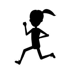 running or jogging icon image vector image