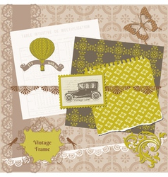 Scrapbook Design Elements - Vintage Time Set vector image