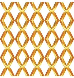 Seamless pattern of golden mesh vector image