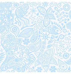 Seamless pattern with ethnic ornament vector