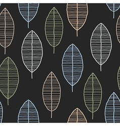 Seamless tile with 50s retro leaf pattern vector