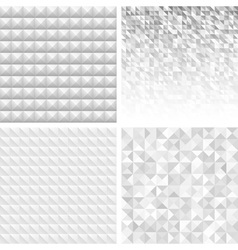 Set of Abstract Gray Geometric Backgrounds vector image