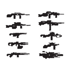 set scifi weapons concept vector image