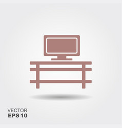 shelving with tv vector image
