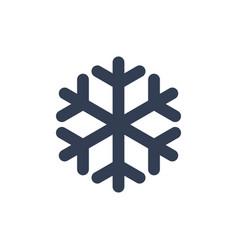 Snowflake icon black silhouette snow flake sign vector