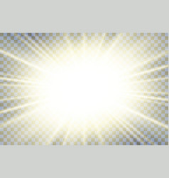 sun rays starburst bright effect isolated vector image