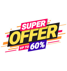 Super offer special offers vector
