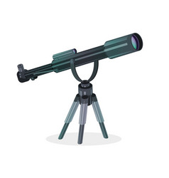 telescope flat icon isolated on white vector image