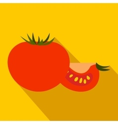 Tomato icon flat style vector image