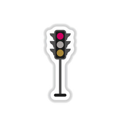 Traffic light sticker vector