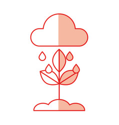 weather cloud rainy isolated icon vector image