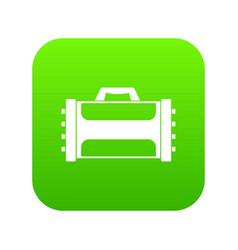 welding machine icon digital green vector image
