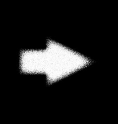 white abstract right arrow sign vector image