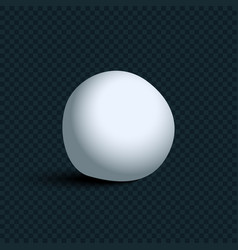white realistic snowball with shadow on vector image