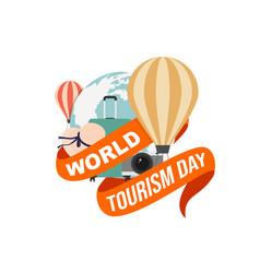 World tourism day design vector