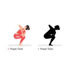 Young sporty woman practicing yoga vector