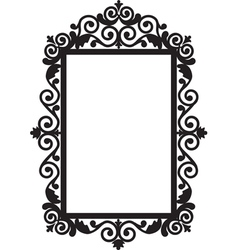 antique frame vector image vector image